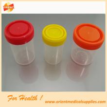 Récipient à échantillon en plastique laboratoire hospitalier