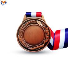 Prémio de medalha de cobre em branco por gravura
