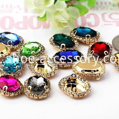 fancy 10x14mm oval sew-on jewels effect