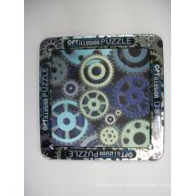 Hecho 3D Lenticular Puzzle Volver con imanes