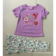 Verão bebê menina pijamas infantil terno em crianças usam bb-401