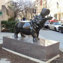 2018 hochwertige populäre Gartendekoration Bronze Nilpferd Statue