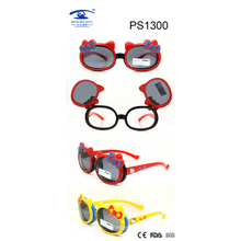 Wenzhou Manufacture Kitty Colorful Kid Plastic Sunglasses (PS1300)