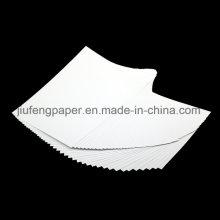Bastante Bom 100% Papel de cor de celulose de madeira Original Papelão branco