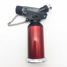 Windproof Jet Flame Refillable Torch Cigar Lighter with Headgear (ES-TL-003)