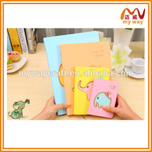 kawaii korean stationery of small elephant notebook,buy notebook in china