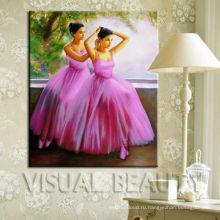 Горячее надувательство танцуя живопись маслом балета