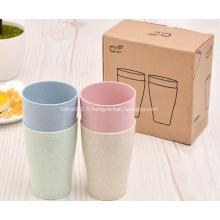 Ensemble de 4 tasses à boire en paille de blé