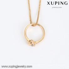 44137 dernière conception saoudie or bijoux collier pas cher signification unique blanc zircon pierre anneau plaqué or bijoux collier