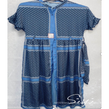 Robe maxi imprimée 100% polyester pour dames