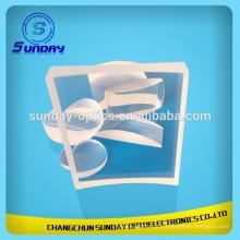 Janela de vidro ótico do fluoreto de cálcio Caf2