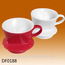 Filtro de café de cerámica del logotipo modificado para requisitos particulares, tenedor del filtro de café, taza del filtro del café