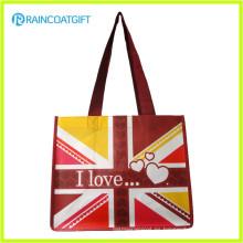 Promoción reciclado laminado PP no tejidos bolsa de compras RGB-091