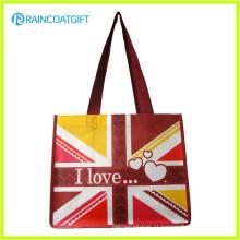 Promoção reciclar PP laminado não tecido saco de compras RGB-091