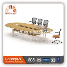 (МФЦ)ХТ-24-43 современный конференц-стол из нержавеющей стальная рама 4.3 М конференц-столы для продажи