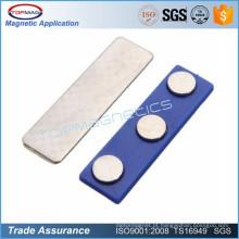 Suporte de emblema de nome magnético azul com fita adesiva auto-adesiva