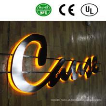 Sinal acrílico iluminado personalizado da letra de canal do diodo emissor de luz para trás