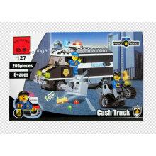 Policía serie diseñador bill colector Cash camión 209PCS bloquea juguetes