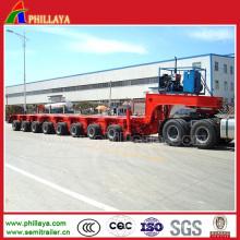 200 Tonnen modulare Flachbett-Plattform-hydraulische Lenkungs-Mehrachsenanhänger