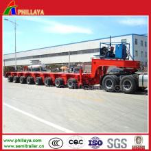 Remorques multi hydrauliques modulaires de plate-forme à plat de plate-forme de 200 tonnes