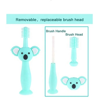 Ours Cartoon Sans Brosse À Dents En Silicone Bébé