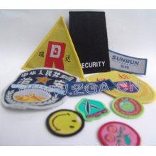 Gesticktes Abzeichen, Kleidungsstück Etikett