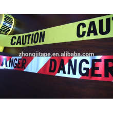 преступления использовать красный/белый с печатью PE предупреждающая лента
