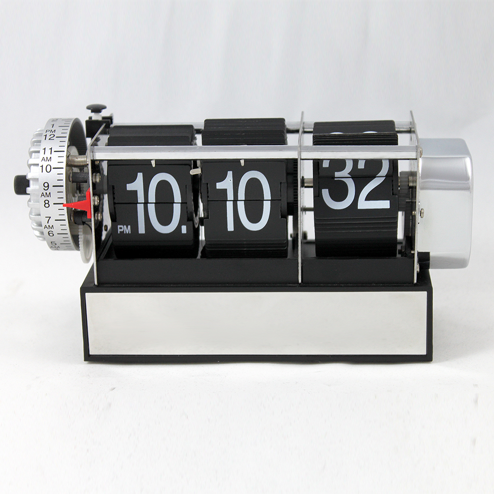 Black Dynamic Alarm Flip Clock for Decor