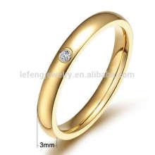 Anéis de casamento de titânio de ouro, jóias de anel de titânio fino