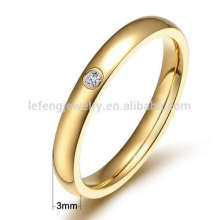 Титан золото обручальные кольца,тонкий титана кольцо ювелирных изделий