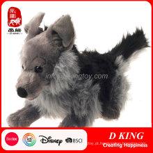 Brinquedo de pelúcia fabricante de brinquedo de pelúcia Brinquedo de pelúcia animal de lobo