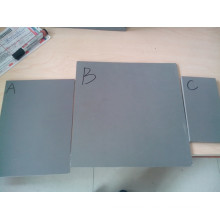 Tablero de la muestra del PVC, tablero de la espuma del pvc del color negro y transparente material del PVC
