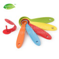 Set Of 5 Colorful Plastic Measuring Spoons Set