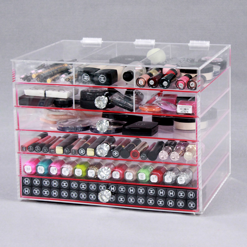 Cheap Affordable Acrylic Cube Makeup Organizer
