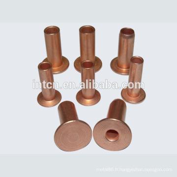 Approvisionnement d'usine de bonne qualité rivet en cuivre creux