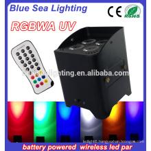 4pcs 18w 6in1 Wireless led par stage light