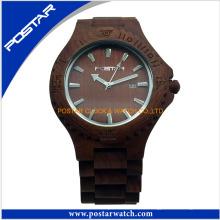Großhandelsqualitäts-Holz passt kundenspezifische Uhr vom China-Lieferanten auf