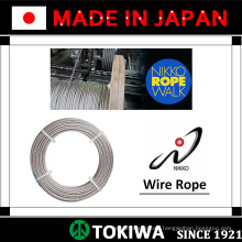 High quality steel & stainless steel wire rope from NIKKOSEIKO, with excellent abrasion resistance (wire rope sling price)