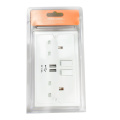 Double prise murale USB UK Plug