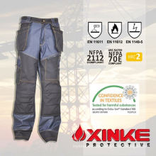 High quality anti-static flame prevention pants passed EN11611 Xinke Protective Color reference