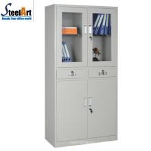Armoire de bureau en acier de deux portes de bureau de qualité faite dans luoyang