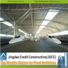 Schwere Stahlkonstruktion mit hoher Qualität für Bahnhofsgebäude