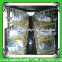 Jaulas práticas de camada de aves de capoeira com sistema de alimentação para coelho