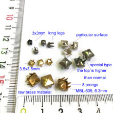 Gold Tone Pyramid Studs for Leathercrafts