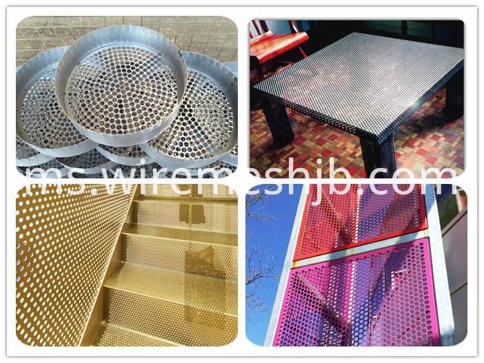 Perforated metal netting