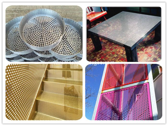 Perforated metal netting