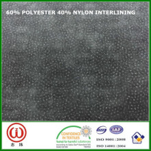 45 gsm 90 cm Width interfacing 60% polyester 40% nylon interlining for bags