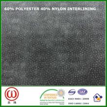 45 gsm 90 cm Interface de largura 60% poliéster 40% nylon interlining para sacos