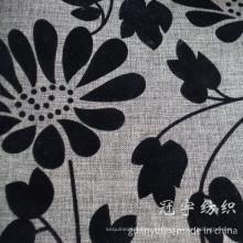 Tratamiento flocado de imitación de la tela de lino para el sofá
