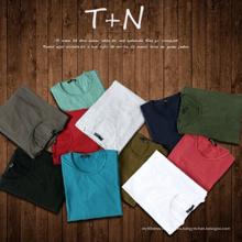 Camiseta de encargo de los hombres Camiseta promocional del algodón del llano
